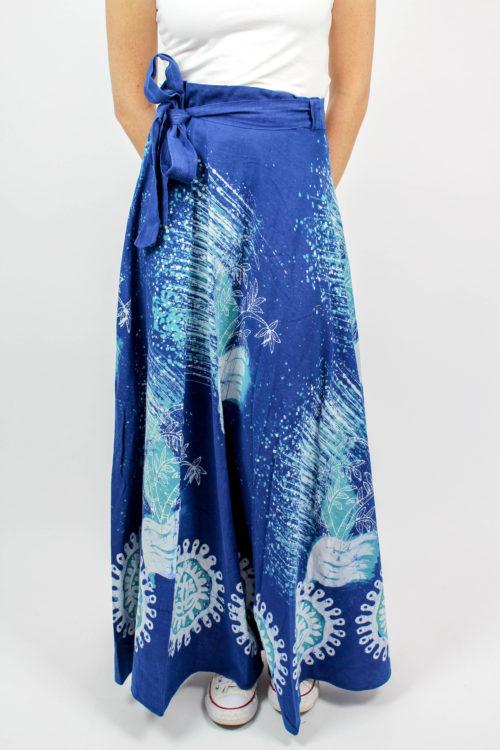 Wickelrock blau weiß