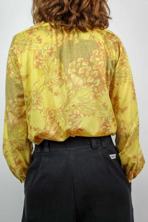 Bluse gelb langarm