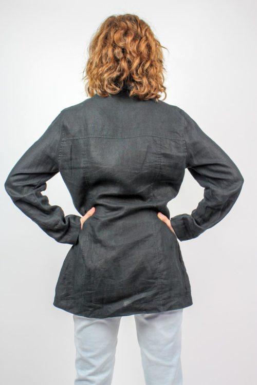 Bluse schwarz Langarm