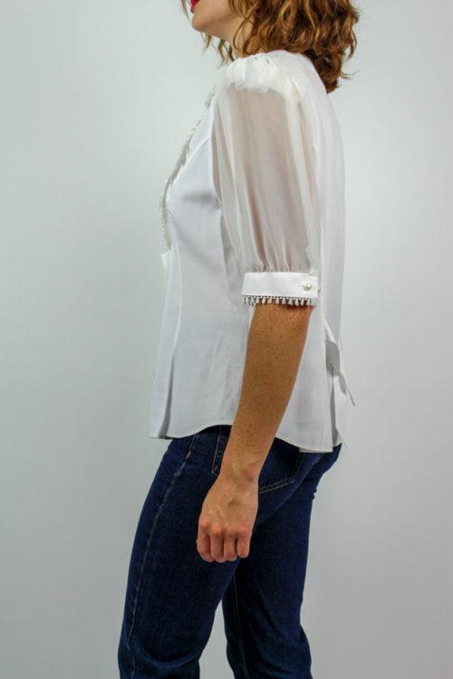 Bluse weiß Spitze