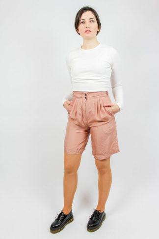 Highwaist Seide Shorts