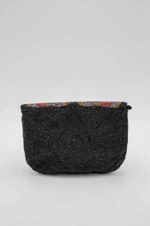 Handtasche schwarz Perlen
