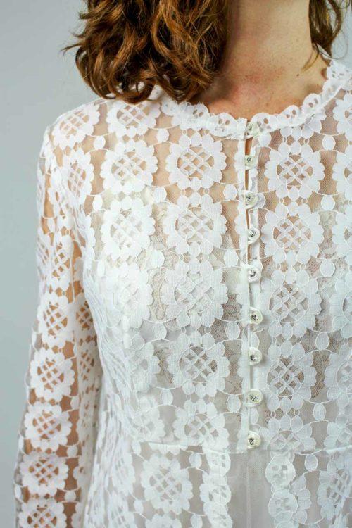 Hochzeitsmantel weiß