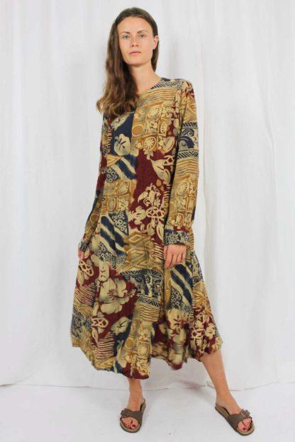 Midi Ethno Muster Kleid