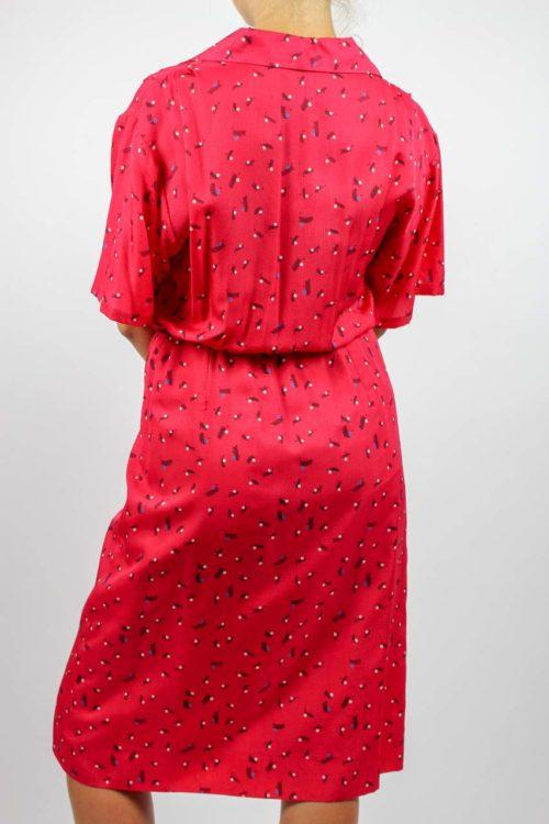 Kleid kurzarm rot