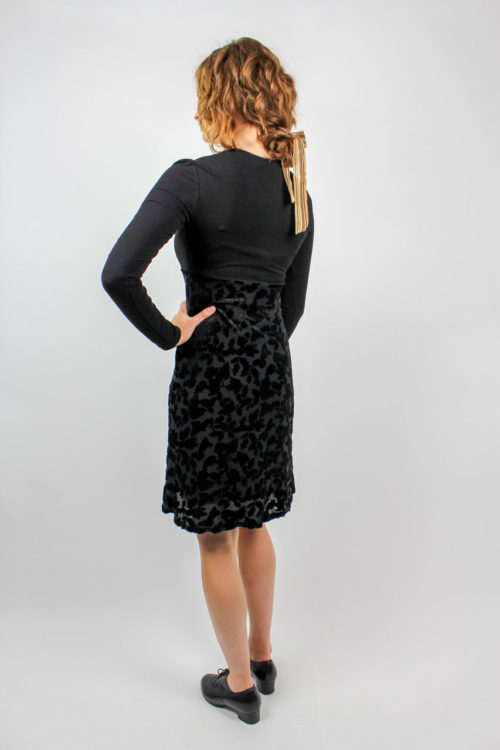 Kleid langarm schwarz