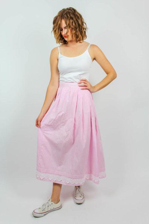 Streifenrock rosa