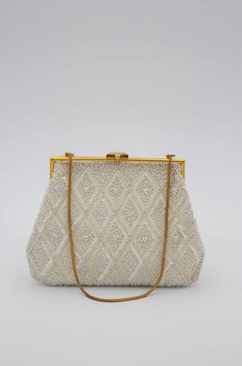 Vintage Handtasche weiß