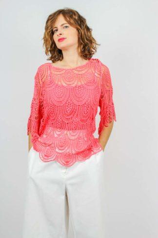 Spitzen Tunika Shirt