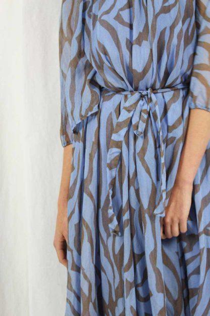 Midi Muster Kleid Damen