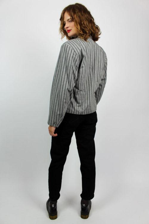Blazer grau schwarz