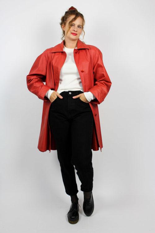Jacke lang rot