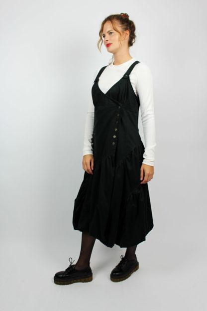 Kleid schwarz gestreift