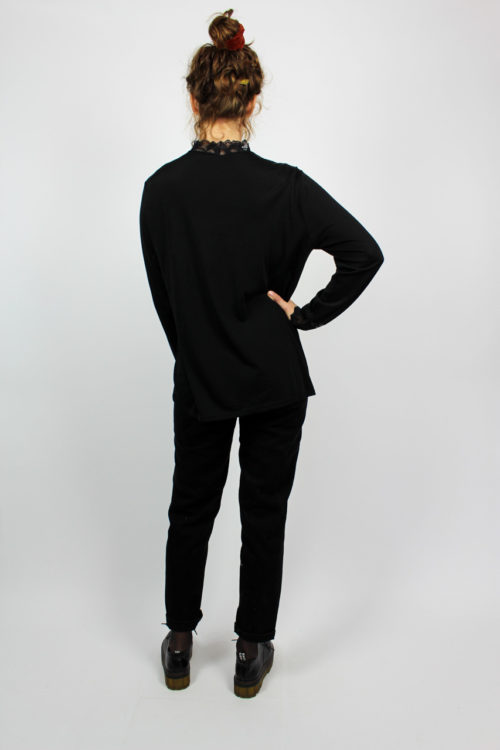 Spitzenshirt schwarz