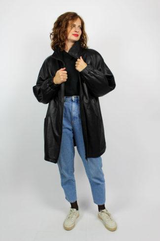 Vintage Lederjacke schwarz