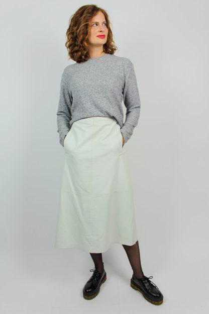 Vintage Lederrock weiß