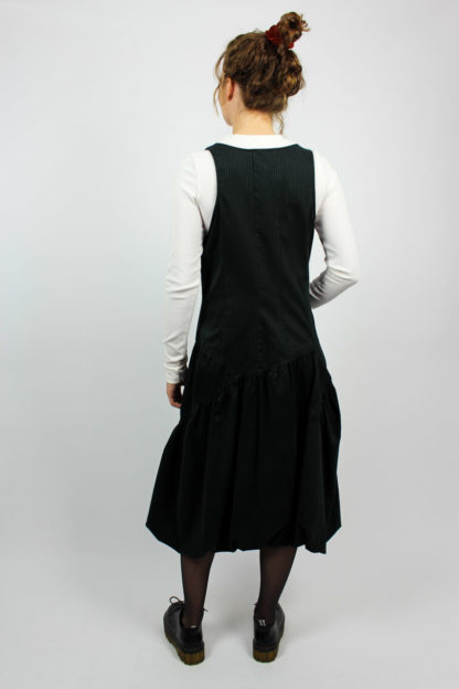 schwarzes Kleid Midi