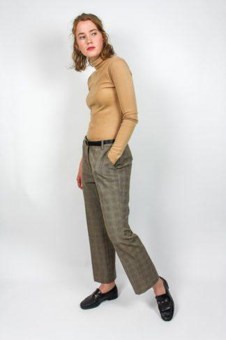 Damenhose kariert
