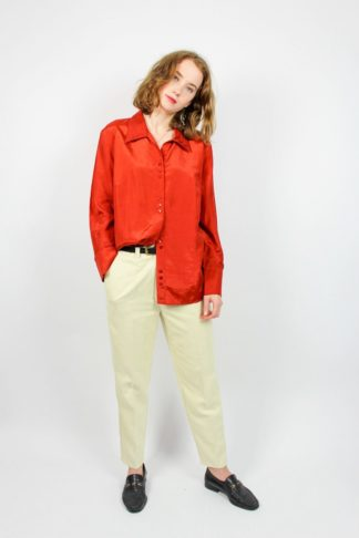 Vintage Damenbluse rot