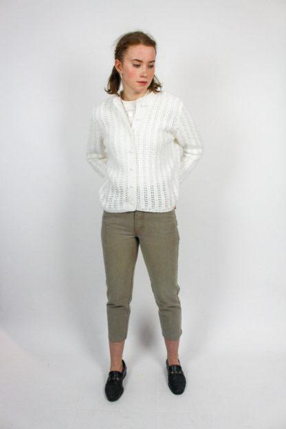 Strickjacke weiß