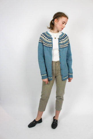 Vintage Strickjacke blau