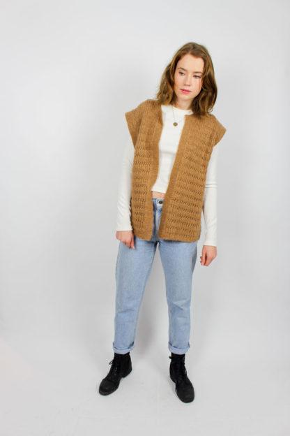 Vintage Strickweste braun