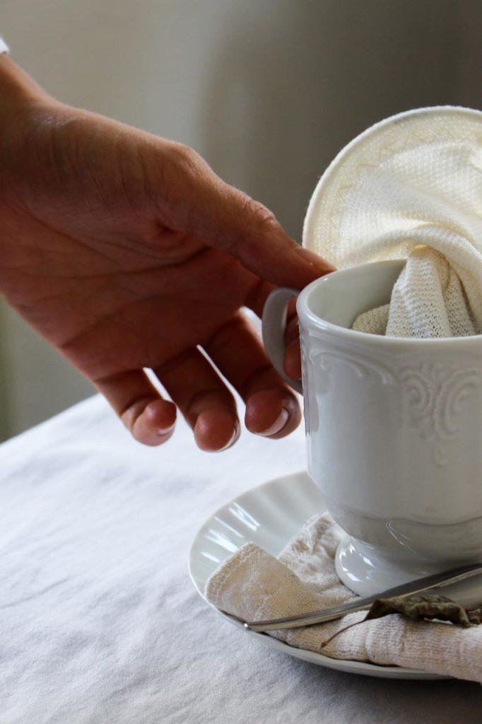 Teebeutel aus Stoff