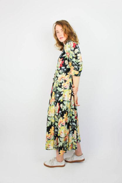 Damenkleid Rosenmuster