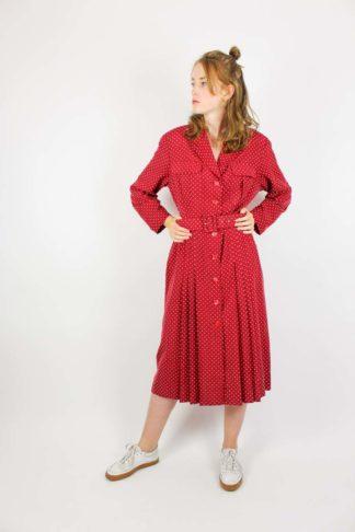 Sommerkleid Rot Seide