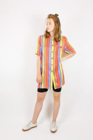 Vintage Bluse Streifenmuster