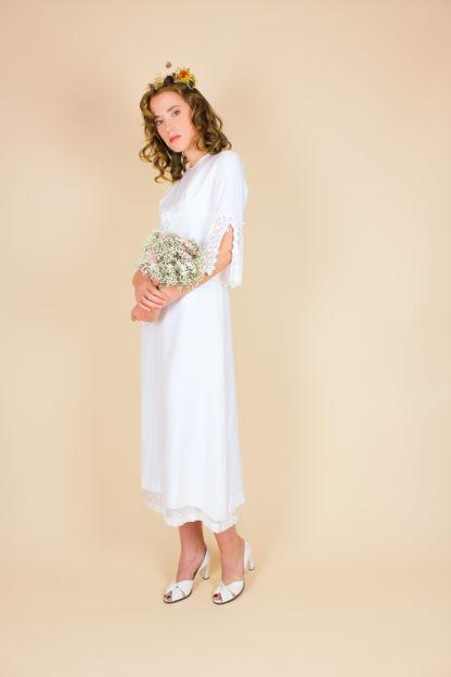 70er Jahre Brautkleid