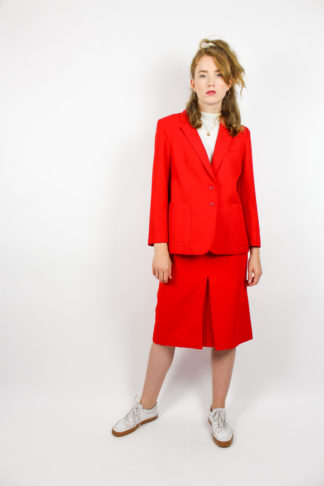Vintage Kostüm Rot