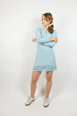 Vintage Strickkleid Blau