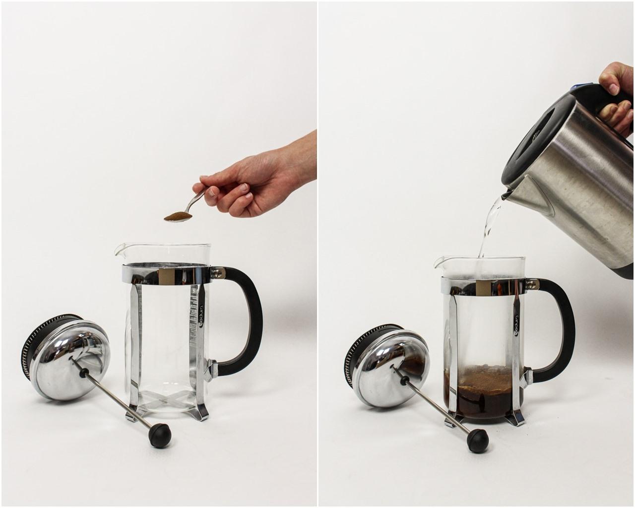 kaffee mit french press