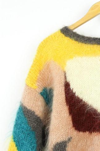 Pullover Bunt Handgestrickt
