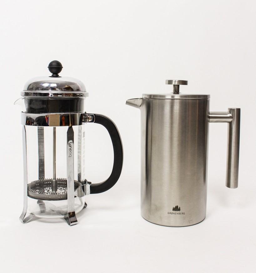 Kaffeebereiter aus Edelstahl