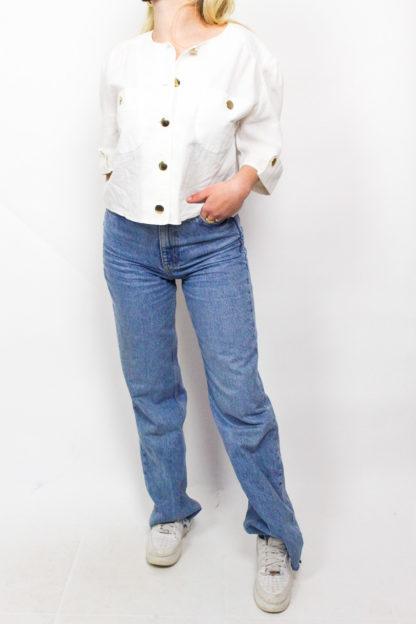 Vintage Jacke Weiß
