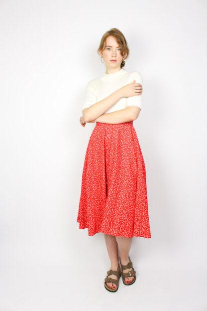 Damenrock Rot